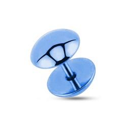 Faux piercing plug 8mm acier bleu clair Case FAU277