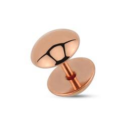 Faux piercing plug 8mm acier or rose Vuy FAU277