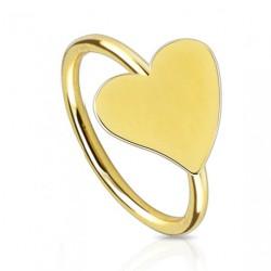 Piercing anneau doré 8mm avec coeur Byut NEZ058