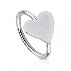 Piercing anneau acier 8mm avec coeur Byut