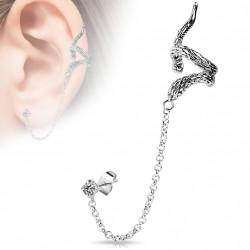 Faux anneau d'oreille serpent Vaze FAU286