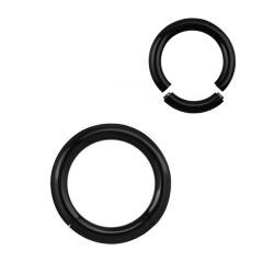 Piercing anneau 16 x 3mm à segment noir Dyu ANN056
