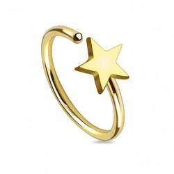 Piercing anneau doré 8mm avec une étoile Buj Piercing nez3,80€