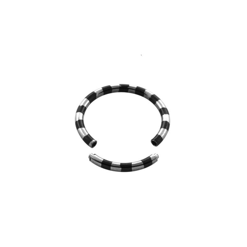 Piercing anneau 14 x 1,6mm segment zébré noir Piercing oreille5,90€