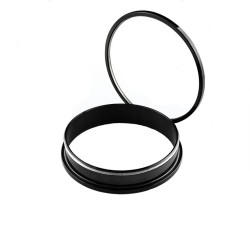 Piercing tunnel 35mm écarteur acier noir Kazu PLU022