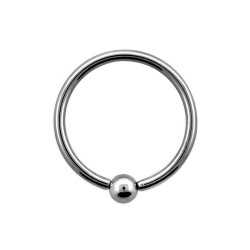 Piercing anneau 10 x 1,2mm avec boule 3mm Gyu ANN039