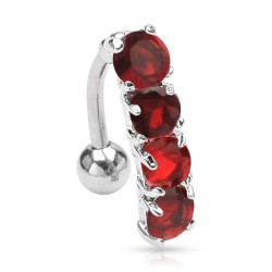 Piercing nombril inversé rouge Mipol NOM059