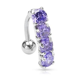Piercing nombril inversé tanzanite Jakyr NOM059
