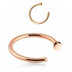 Faux piercing anneau 10 x 1mm or rose Xaz FAU306