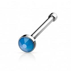 Piercing nez droit avec une opale bleu Dupol NEZ005