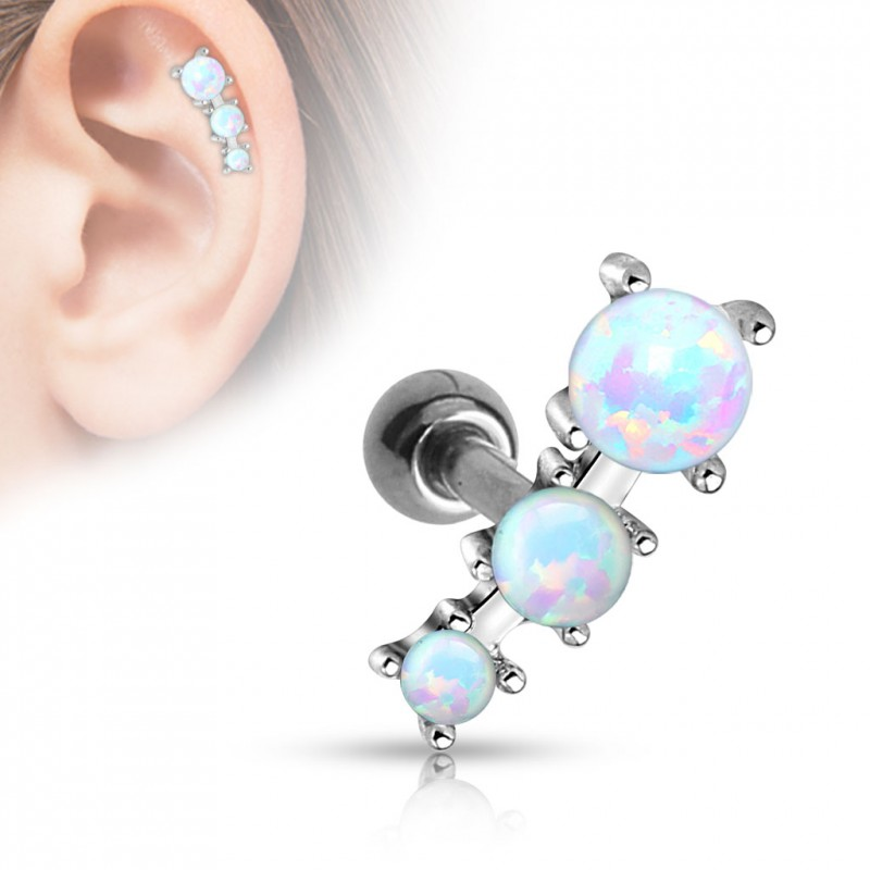 piercing oreille tragus avec triple opaline bulox 6 90. Black Bedroom Furniture Sets. Home Design Ideas