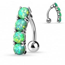 Piercing nombril inversé opale verte Miko NOM627
