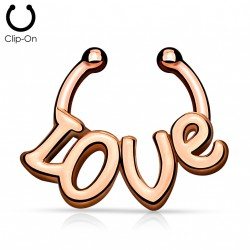 Faux piercing septum or rose love Bax FAU318