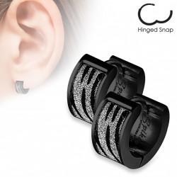 Boucle anneau oreille zébré scintillante Coko ANN118