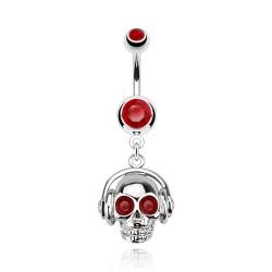 Piercing nombril tête de mort aux yeux rouge Dyt Piercing nombril6,75€