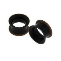 Piercing tunnel silicone noir 12mm Hidol Piercing oreille4,10€