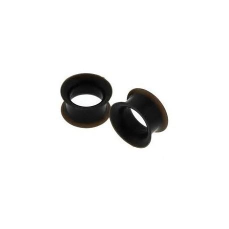 Piercing tunnel silicone noir 4mm Mali