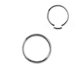 Piercing anneau acier 10 x 1,6mm à segment