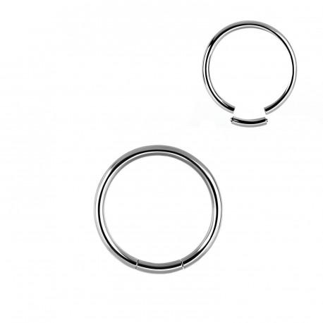 Piercing anneau acier 10 x 1,6mm à segment ANN060