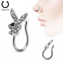 Faux piercing en acier couleur gris métal. (3) - PIERCING ALICE 1e6f7b94bc8