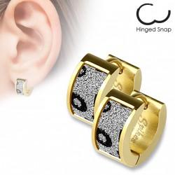 Boucle anneau doré avec motifs léopards scintillants Cuky ANN121