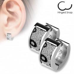 Boucle anneau acier avec motifs léopards scintillants Xaq ANN122