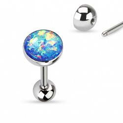 Piercing langue boule avec opale bleu Tax LAN008