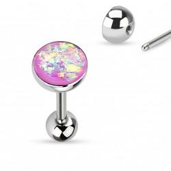 Piercing langue boule avec opale violette Xaz LAN008