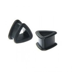 Piercing tunnel silicone triangle 10mm Nor