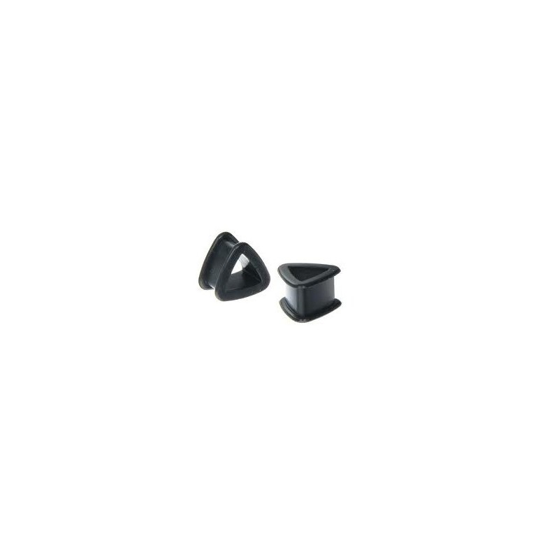 Piercing tunnel silicone triangle 16mm Thong Piercing oreille4,60€