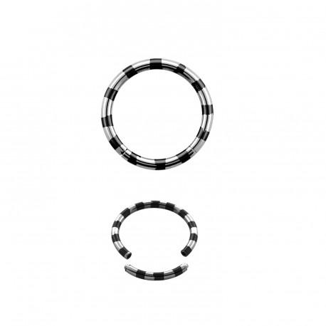 Piercing anneau 10 x 1,6mm segment noir Cyut Piercing oreille5,49€