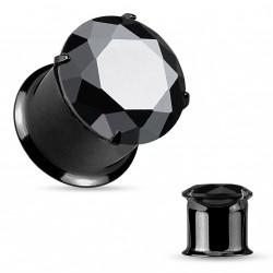 Piercing plug 4mm avec zirconium noir Axy PLU141