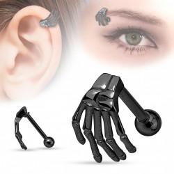 Piercing arcade droit main squelette noir Cyx ARC010