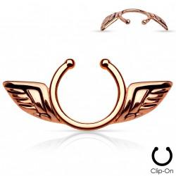 Faux piercing téton ailes d'anges or rose Gahu Faux piercing4,80€