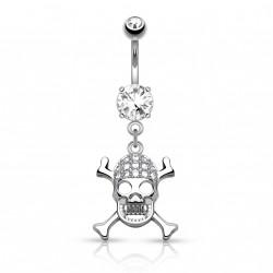 Piercing nombril pendentif avec tête de mort Dow Piercing nombril7,49€