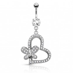 Piercing nombril cœur avec un papillon Bako Piercing nombril11,49€