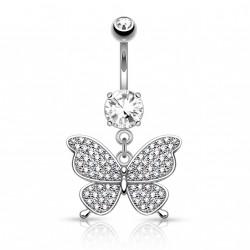 Piercing nombril pendentif avec un papillon Buko NOM392