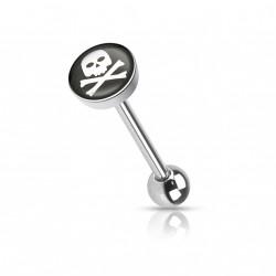 Piercing langue avec en logo une tête de mort Hazo LAN075