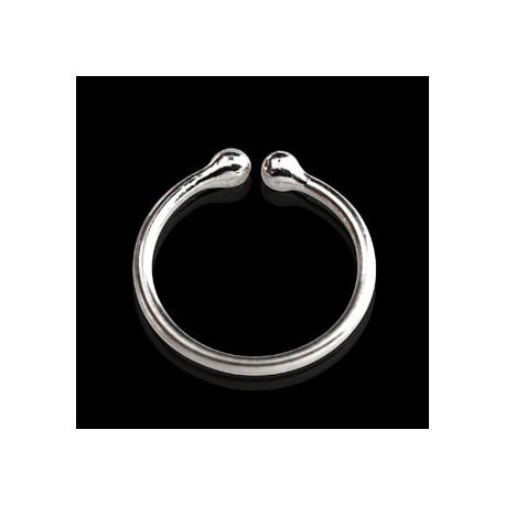 Faux piercing anneau 4mm plaqué argent Piko FAU064
