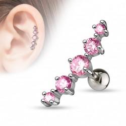 Piercing Tragus cartilage Rose Bern Piercing oreille7,49€