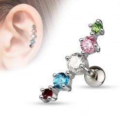 Piercing Tragus cartilage Arc-en-ciel Sae Piercing oreille7,49€