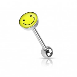 Piercing langue acier et logo smiley rieur gafy Piercing langue3,20 €