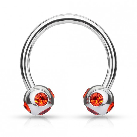 Piercing fer à cheval 10mm gems rouge Apio Piercing oreille4,80€
