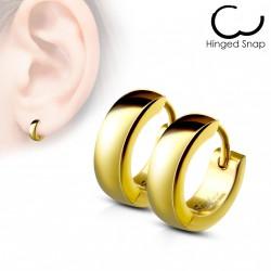 Boucle anneau oreille acier doré Cyko ANN047