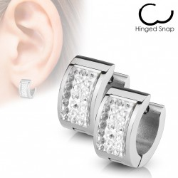 Boucle anneau en crystals blanc Yuko