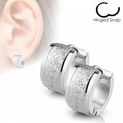 Boucle anneau acier aspect sable brillant Faqok ANN064