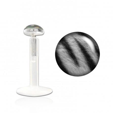 Piercing labret lévre 8mm zébré gris This Piercing labret3,25€