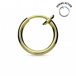 Faux piercing anneaux 10mm doré à clip Pop FAU239