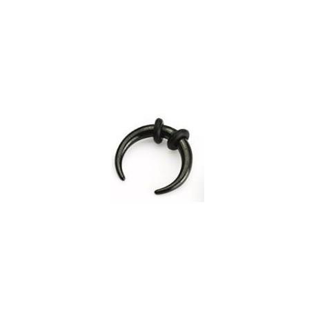 Piercing corne buffalo noir 1,6mm Hiran