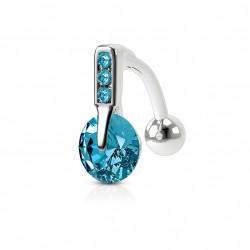 Piercing nombril inversé bleu Rilao